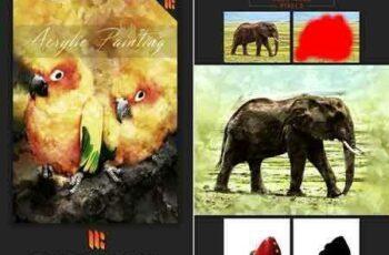 1805006 Acrylic Painting Photoshop Action 21561725 6