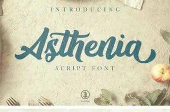 1805041 Asthenia Script Font 52656 12
