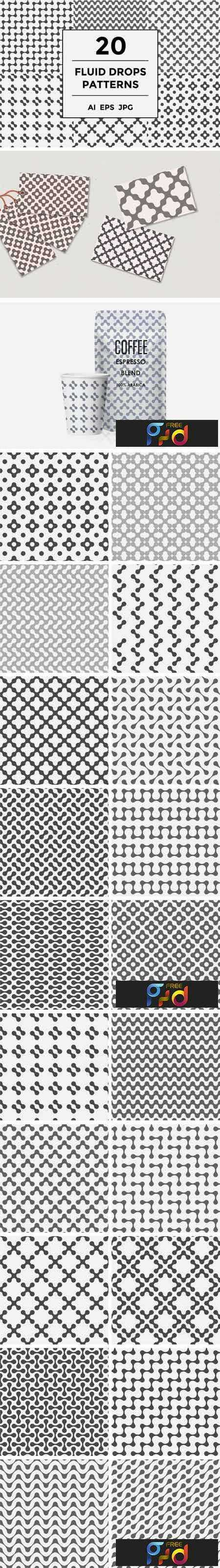 1805053 Fluid Dots Seamless Patterns Set 2164432 1