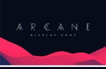 1805063 Arcane Display Font 16