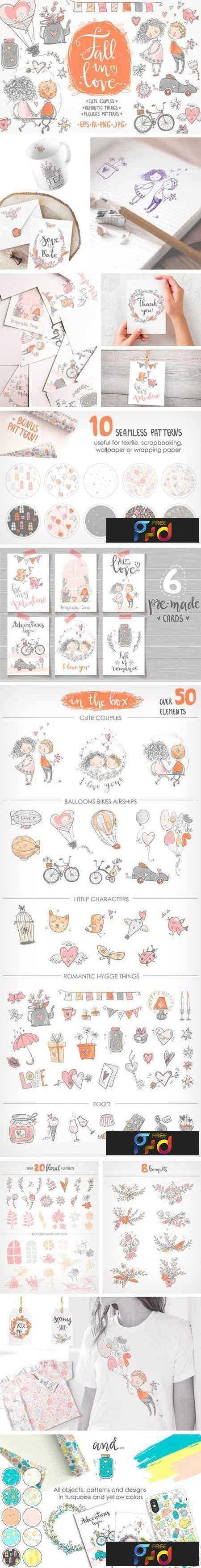 1805069 Fall in Love, ROMANTIC Graphic KIT 2271457 1
