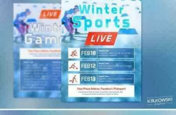 1805109 Winter Sports Event in TV Flyer 2256541 7