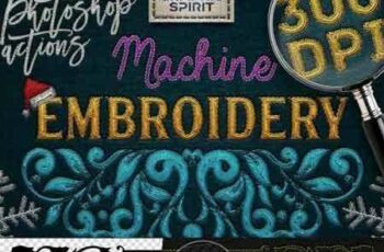 1805116 Machine Embroidery Photoshop Actions 2167124 2