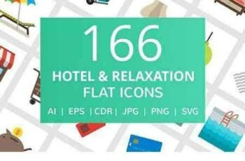 1805120 166 Hotel & Relaxation Flat Icons 2229239 6