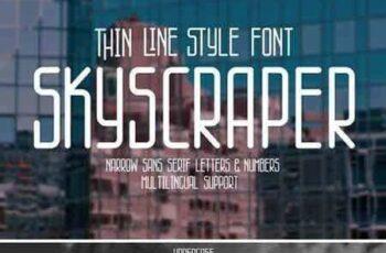 1805150 Skyscraper thin line style font 2253948 4
