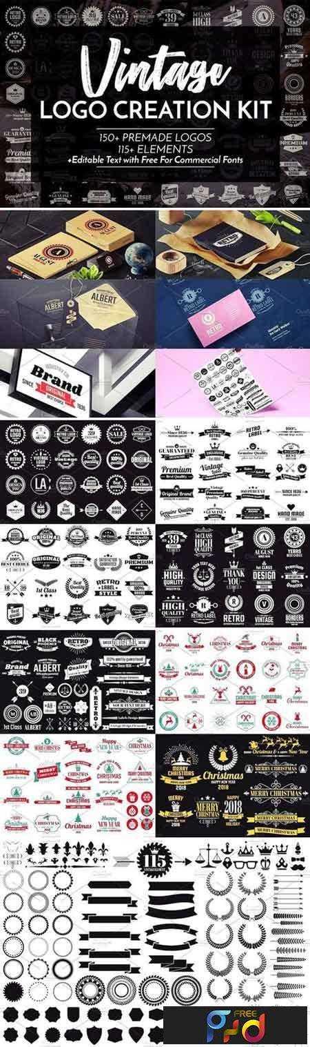 1805154 Vintage Logo Creation Kit 2023446 1