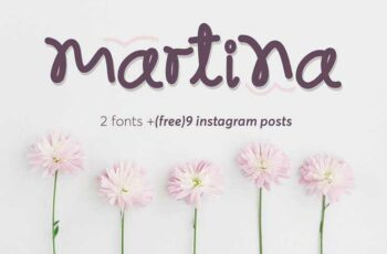 1805174 Martina font and 9 Instagram posts 2227248 1