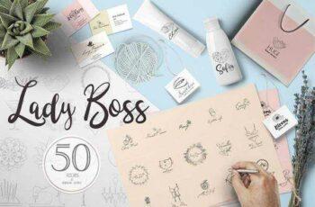 1805191 Lady Boss premade logo template 2223551 5