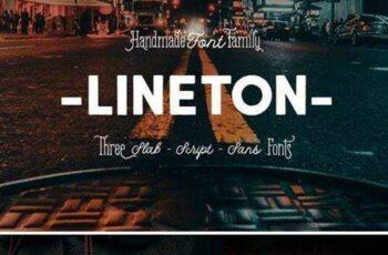 1805212 Lineton Family Font (+Webfont) 2223359 13
