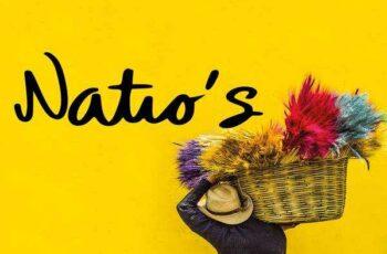 1805217 Natio's Font + 5 FREE logos 2186038 16