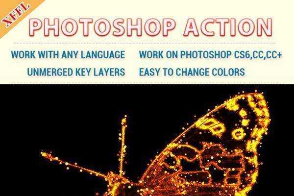 1805222 Fire Dots Effect Photoshop Action 21720555 - FreePSDvn