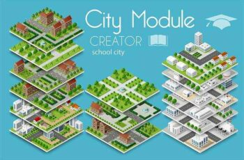 1805232 City module creator school town 2256368 3