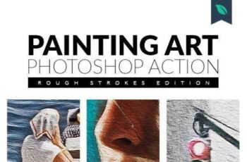 1805243 Painting Art Photoshop Action Rough Strokes Edition 21736241 5