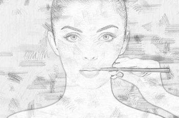 1805254 Pencil Sketch Photoshop Action 21667407 2