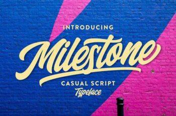 1805255 Milestone Script Fonts 2230346 10
