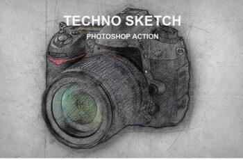 1805262 Techno Sketch Photoshop Action 21668508 5