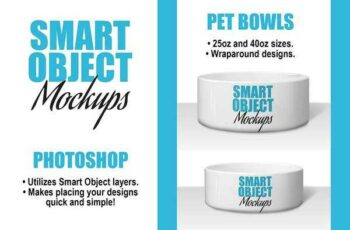 1805271 Ceramic Pet Bowl Mockups - 2 PSDs 2430315