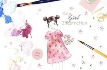 1805275 CUTE GIRL ILLUSTRATION 1543816