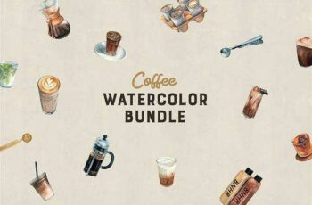 1805295 Watercolor Coffee Bundle 2405258 7