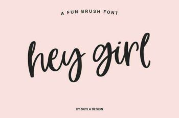 1806030 Fun smooth brush font, Hey Girl 1590742 4