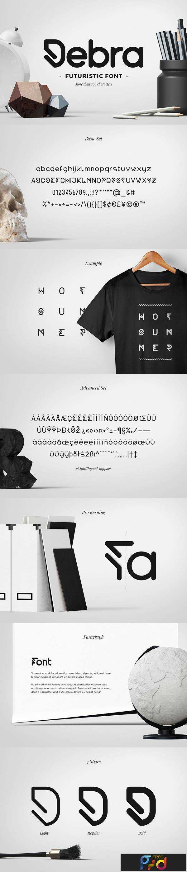 1806054 Debra Rounded - Futuristic Typeface 2477633 1