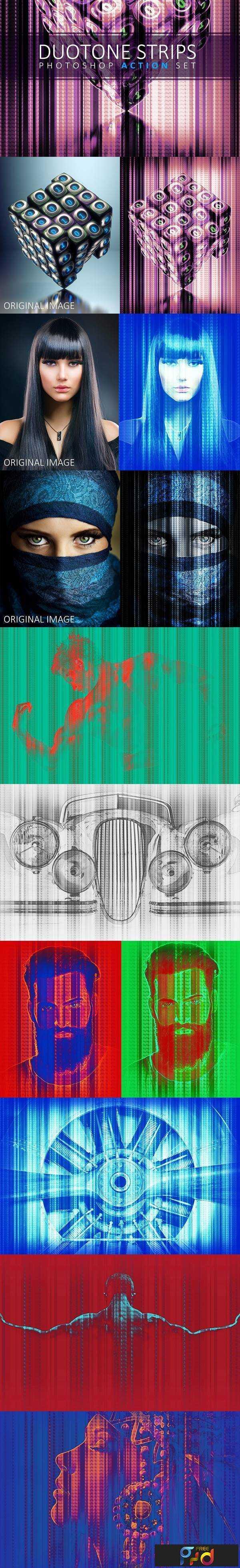 1806059 Duotone Strips Photoshop Action Set 2459110 1