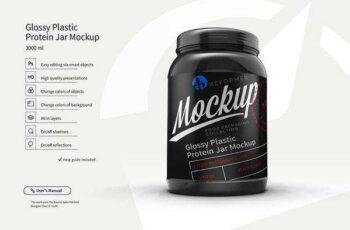 1806074 Plastic Protein Jar 2 Mock-Ups Files 2422877 7