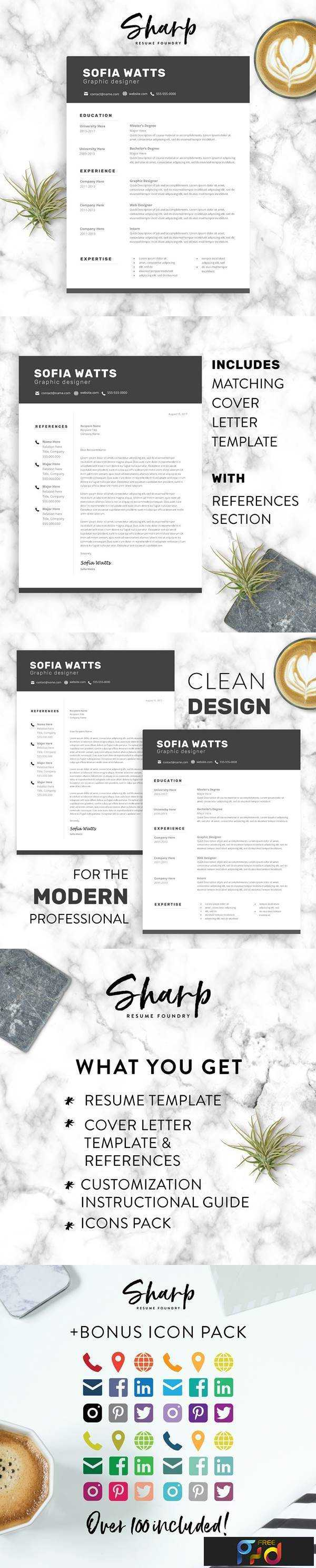 1806076 Modern Resume Template for Word 2160564 1