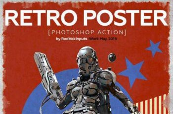 1806087 Retro Poster Photoshop Action 21879165 5