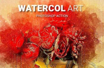1806089 Watercol art Photoshop Action 21881701 4