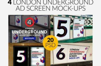 1806098 4 London Underground Mock-Ups Bundle 2532376 4