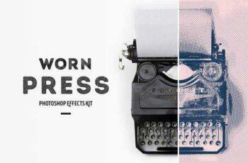 1806117 Worn Press Photoshop Effects Kit 2533164 2