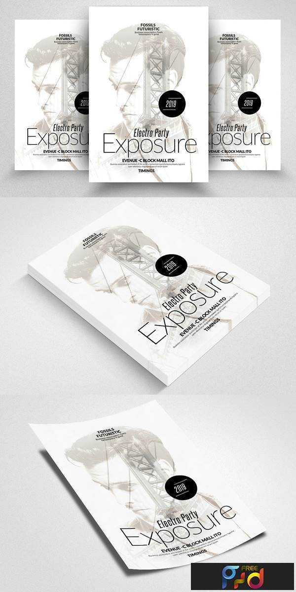 1806118 Double Exposure Electro Flyers 2428935 - Free PSD download ...