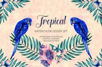 1806136 Tropical watercolor set 1559720 2