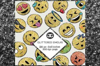 1806150 Glitter Emoji Clip Arts PNG Set 2422791 3