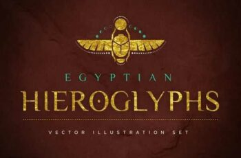 1806182 Egyptian Hieroglyphs Vector Set 2341858 2