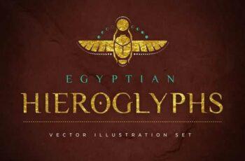 1806182 Egyptian Hieroglyphs Vector Set 2341858 4