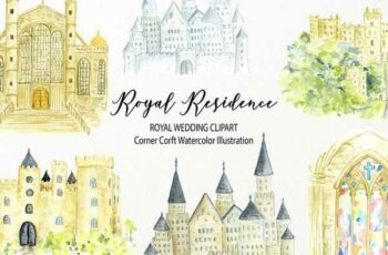 1806239 Watercolor royal residence clipart 2520246 2