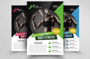 1806245 Body Fitness Club Flyer Template 1549085
