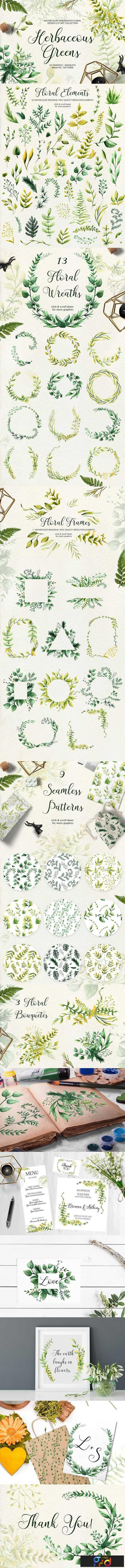 1806267 Herbaceous Greens-watercolor set 2534083 1