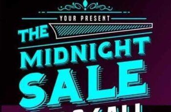 1806271 Midnight Sale Flyer Poster 2516419 7