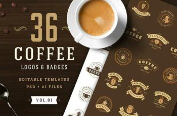 1806279 36 Coffee Logos and Badges 2510765 6