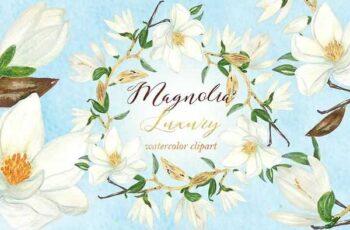 1807018 Magnolia white luxury clipart 1003324 3