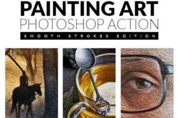 1807021 Painting Art Photoshop Action Smooth Strokes Edition 21616650