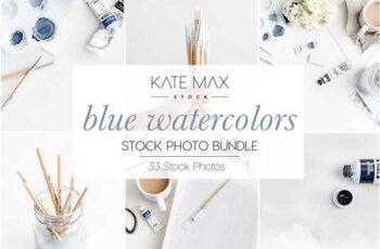1807036 Blue Watercolors Stock Photo Bundle 2323251 6