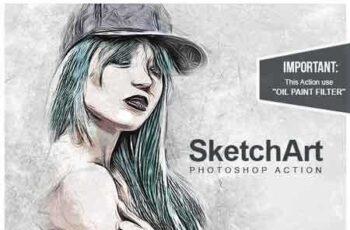 1807045 SketchArt - Photoshop Action 22000249 5