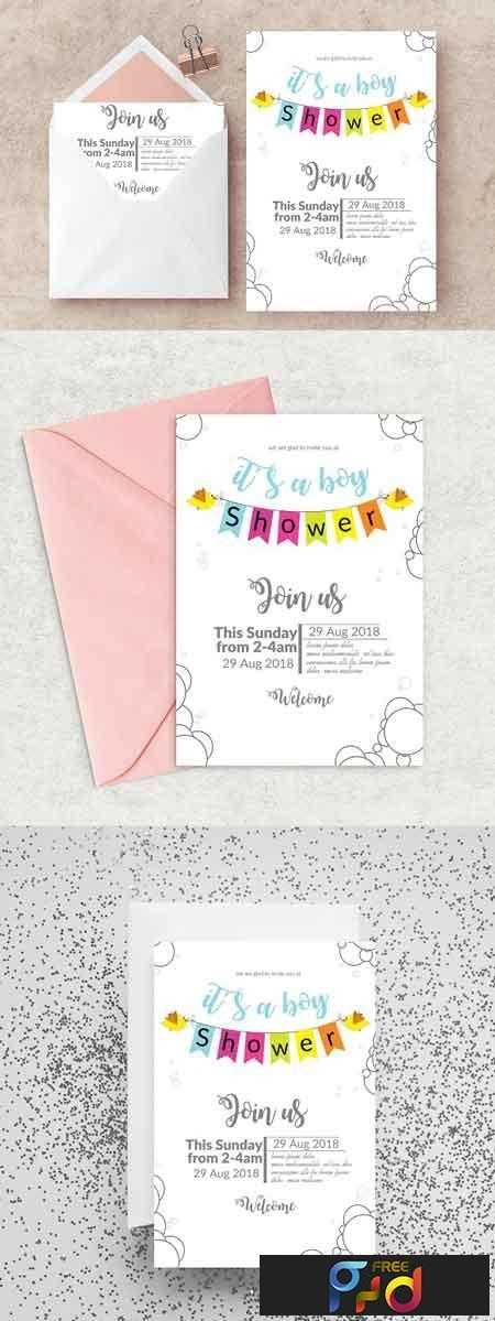1807058 Baby Shower Invitation Card Template 2554839 Freepsdvn