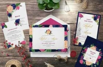 1807074 FLOWER WEDDING INVITATION SUITES 2555554 8