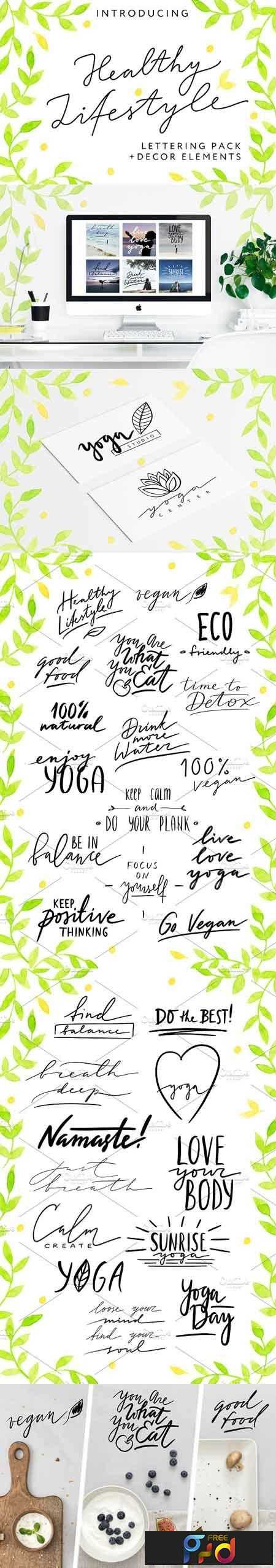 1807075 HEALTHY LIFESTYLE - Lettering Pack 2554856 1