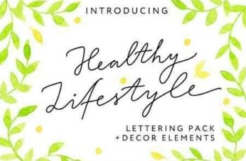1807075 HEALTHY LIFESTYLE - Lettering Pack 2554856 2